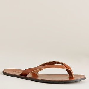 J. Crew vineyard tan leather flip flops